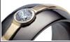 Black Zirconium Gem Sitting Ring