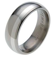 Titanium Ring - OFFSET-INLAY