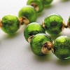 Murano Glass Jewelry - Green Beads