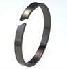 Black Titanium Bangle - Curved Gap