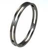 Black Titanium Bangle - Square Cut