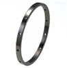 Black Titanium Bangle - Fino Oriel