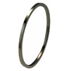 Black Titanium Bangle - Flat
