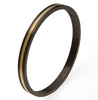 Black Titanium Bangle - Flat Gold Inlay