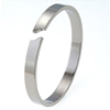 Titanium Bangle - Curved Gap