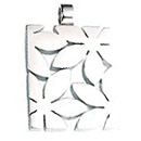 Stainless Steel Pendant Flora wide