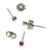 Titanium Earrings Gemstuds