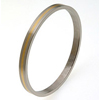 Titanium Bangle - Flat Gold Inlay