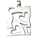 Stainless Steel Pendant Heart to Heart wide