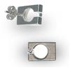 Titanium Earrings Tension Rectangle