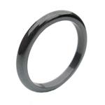 Hematite Ring half round classic