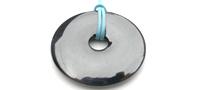 Hematite circle pendant