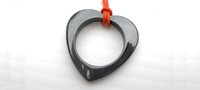 Hematite heart pendant