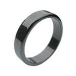Hematite Ring flat rounded edge