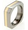 Titanium Ring - OCTO FLUSH INLAY