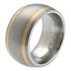 Titanium Ring - Duet Flush Inlay
