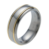 Titanium Ring - Duet Rounded Inlay