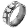 Titanium Ring - Mokume Gane Leopard