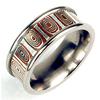 Titanium Ring - Mokume Gane Ripple