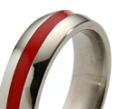 Titanium Rings with Colored Inlay