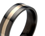 Black Titanium Inlaid Rings