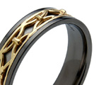 Black Zirconium Inlaid Rings