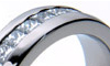 Titanium Gem Set Rings, diamond wedding band, wedding rings bands